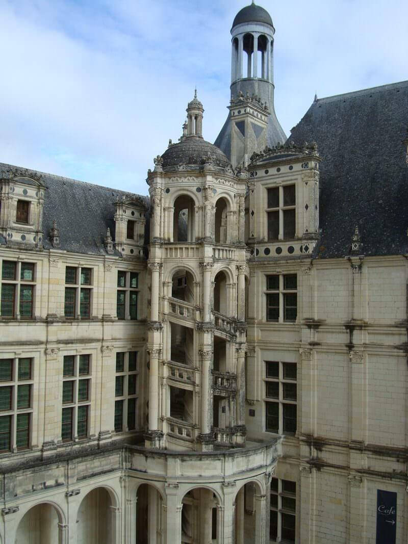 Chateau Chambord escalier exterieur