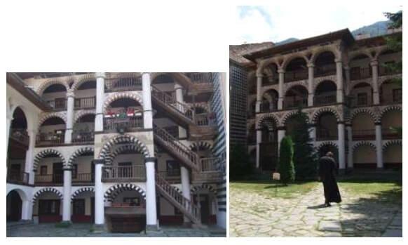 Galeries du monastère de Rila