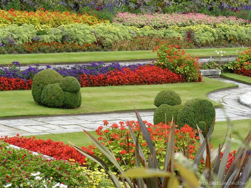 Hampton court palace jardins en fleurs