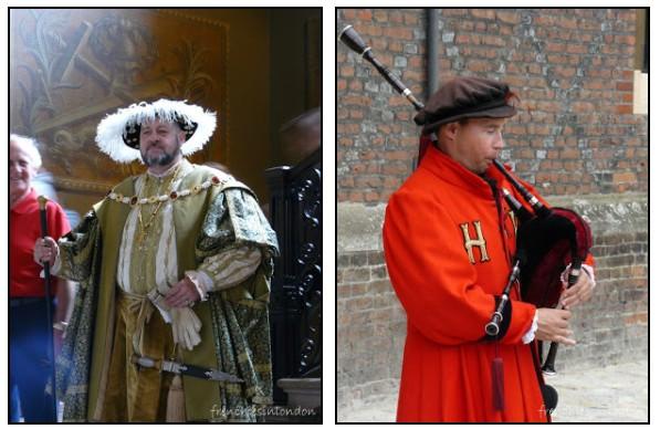 Hampton court reconstitution avec Henry VIII