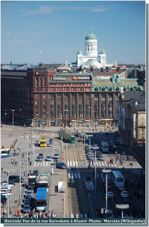Helsinki rue Kaivokatu à Kluuvi