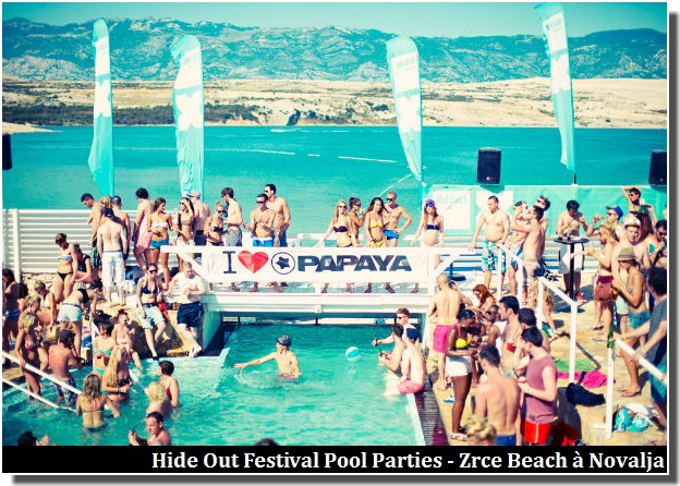 Hide Out Festival Pool Parties Zrce Beach Novalja