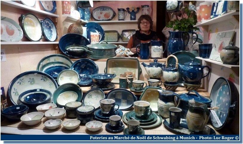 Marché de Noël Munich à Schwabing poteries