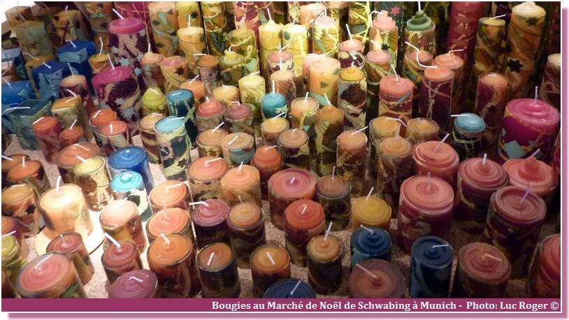 Marché de noel de Munich Schwabing bougies