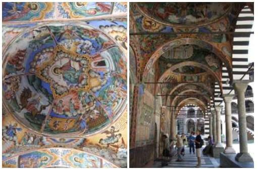 Monastère de Rila fresques murales