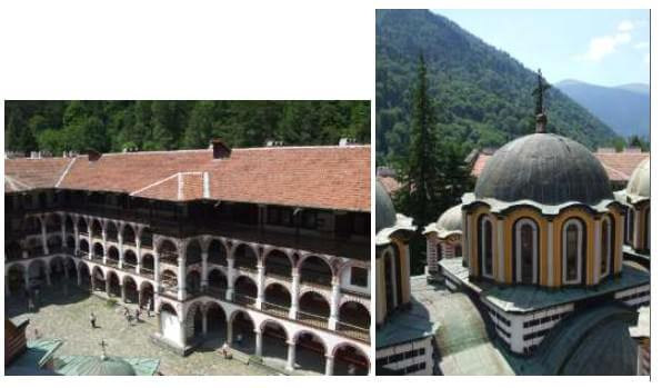 Monastère de Rila galeries et tour Hreljo