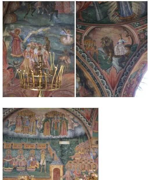 Monastère de Trojan Jugement dernier avec ses damnés