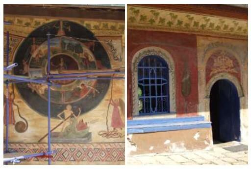 Monastère de la Transfiguration roue de la Vie en Bulgarie