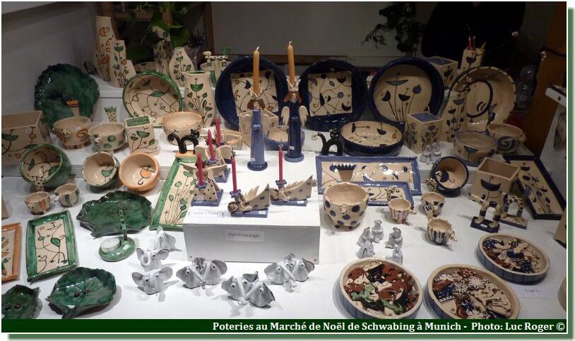 Munich marché de noël Schwabing poteries