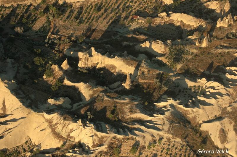 Paysage de la Cappadoce depuis un ballon