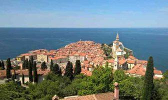 Piran en Capodistria en Slovénie