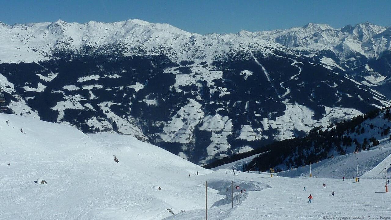 Piste de Zillertal dans les alpes tyroliennes