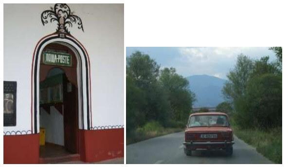 Poste du monastère rila et route bulgare