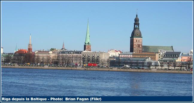 Riga depuis la Baltique