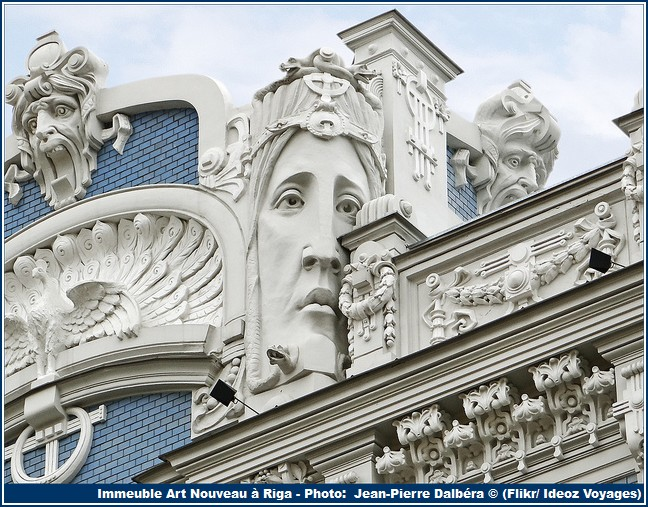 Riga immeuble art nouveau