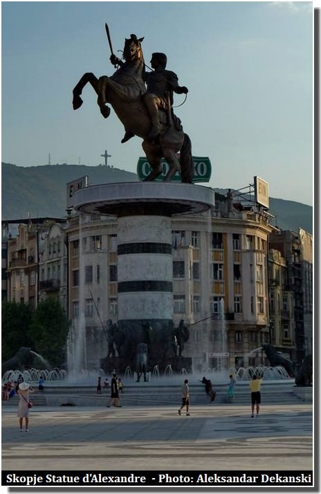 Skopje Alexandre de Macédoine