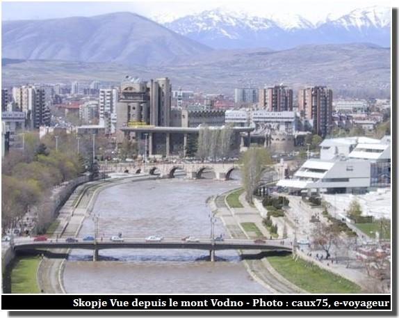Skopje Vue depuis le mont Vodno