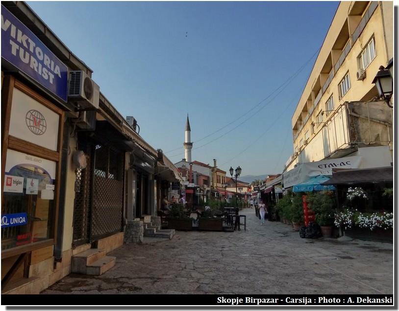 Skopje carsija vieux quartier turc