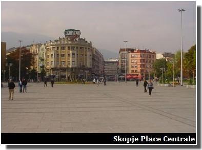 Skopje place centrale