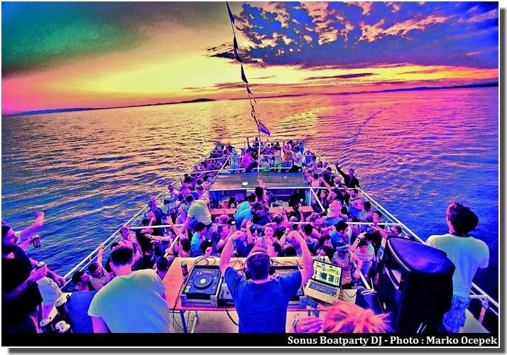 Sonus Boatparty DJ Novalja