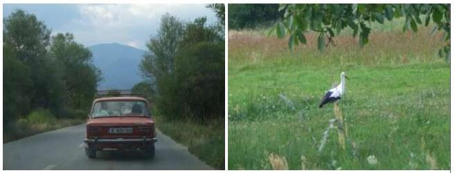 Sur la route bulgare en quittant le monastère de Rila