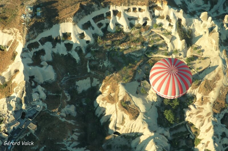 Survol en ballon de la Cappadoce