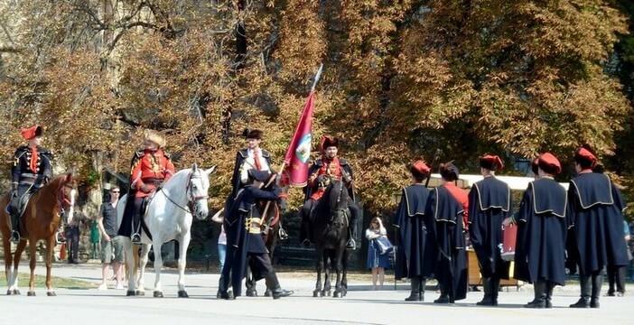 Zagreb relève de la garde du régiment des cravates