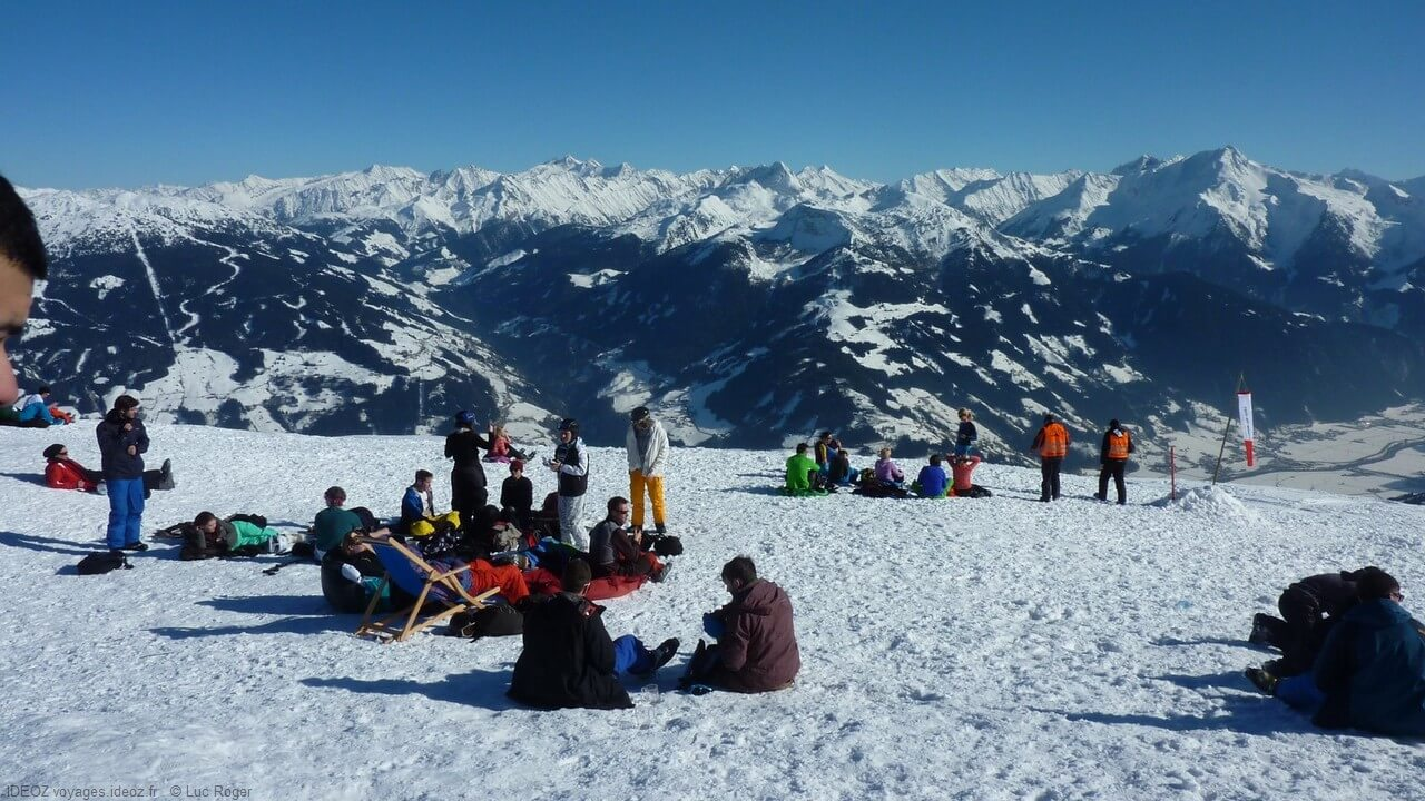 Zillertall réunion au sommet dans les Alpes tyroliennes