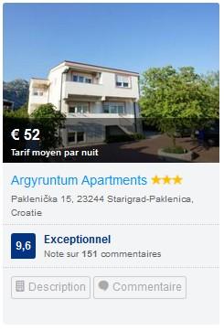 argyruntum apartments starigrad paklenica