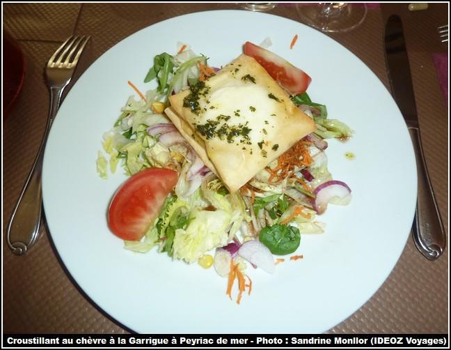auberge la garrigue peyriac de mer croustillant chevre