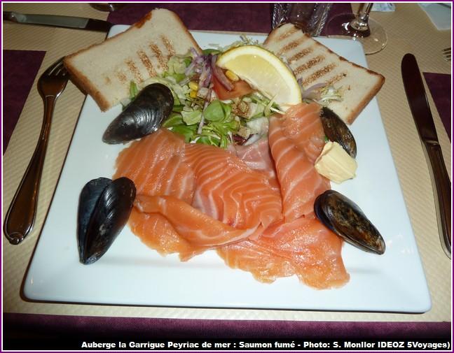 auberge la garrigue peyriac de mer saumon fume