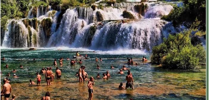 Parc national Krka, un parc à cascades près de Sibenik (Dalmatie Nord)