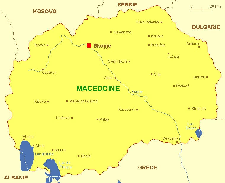 carte macedoine fyrom