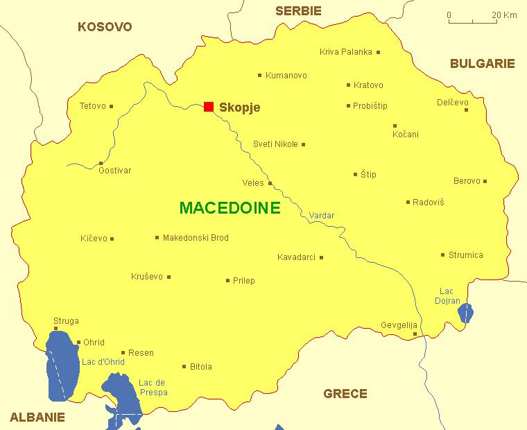 carte macedoine fyrom