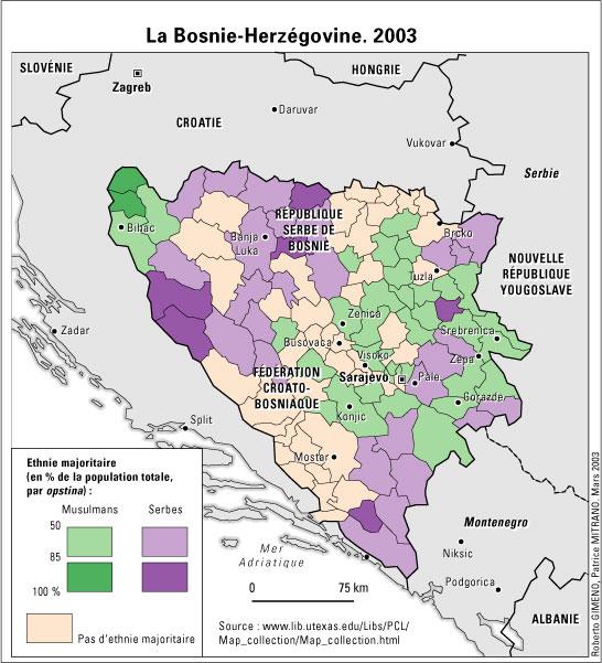 ethnies bosnie carte
