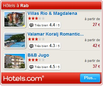 hotels rab croatie