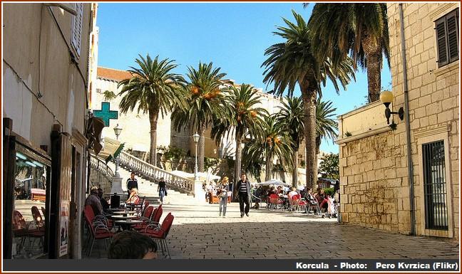 korcula ville palmiers