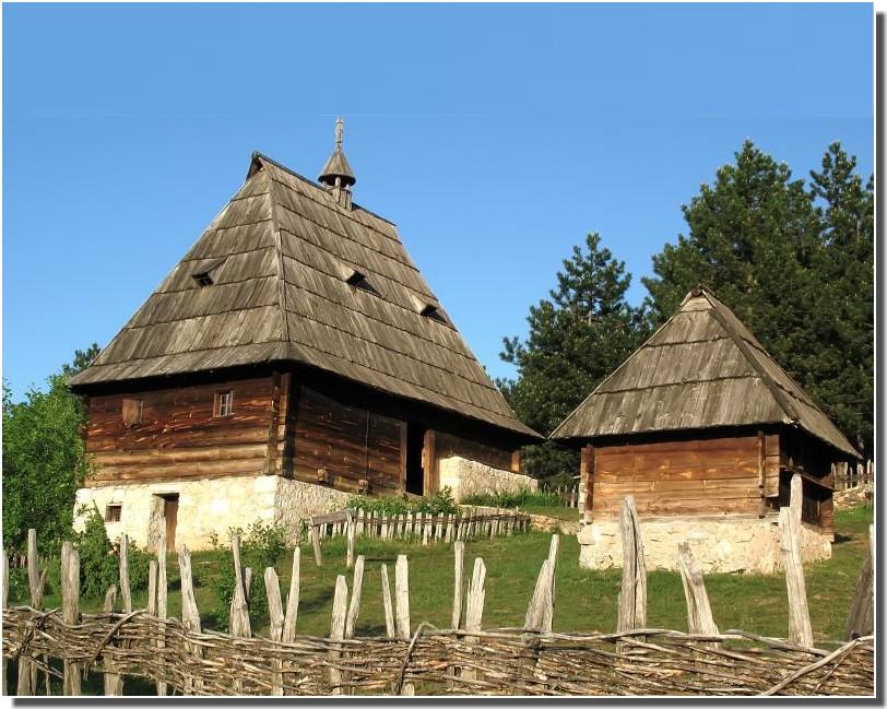village traditionnel - Serbie