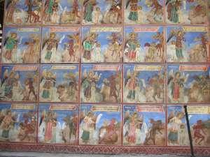 peintures dunarthex extérieur de l'église principale du Monastère Rila