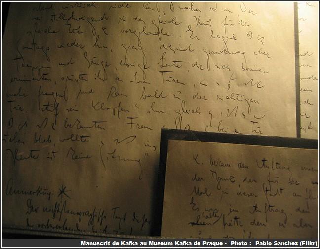 prague museum kafka manuscrit