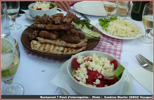restaurant point d'interrogation belgrade repas serbe
