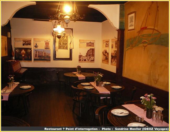 restaurant point d'interrogation belgrade salle interieure
