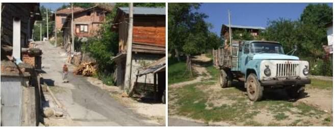 rues de Dobarsko en Bulgarie centrale