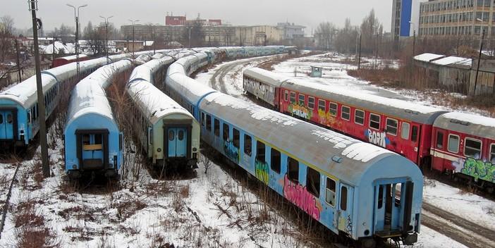 train en roumanie en hiver