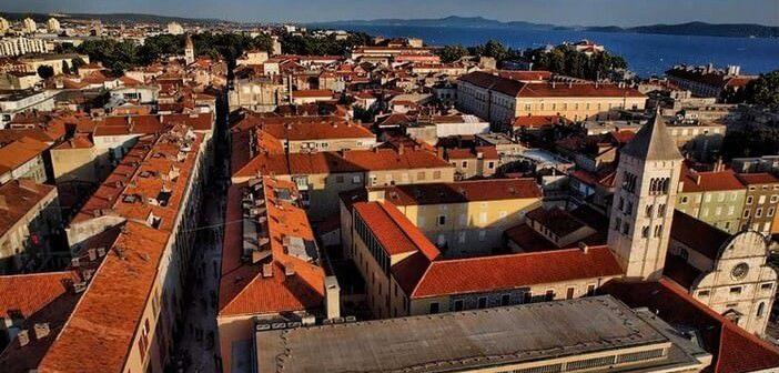 vue aérienne Zadar