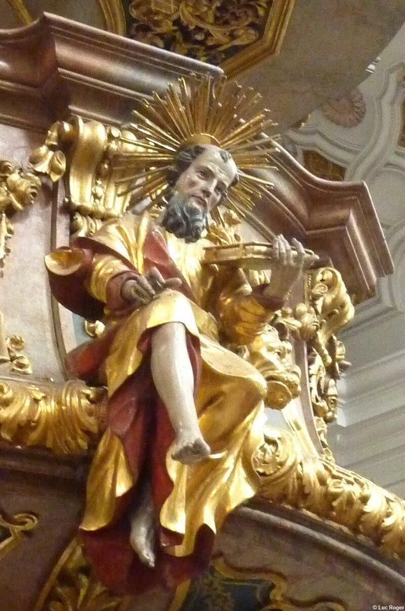 Abbaye Rohr Evangéliste sur la chaire
