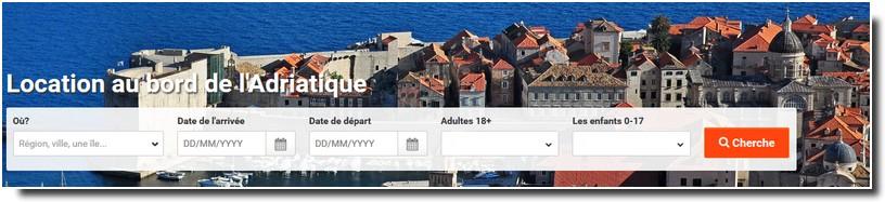 chercher une location de vacances en Croatie?