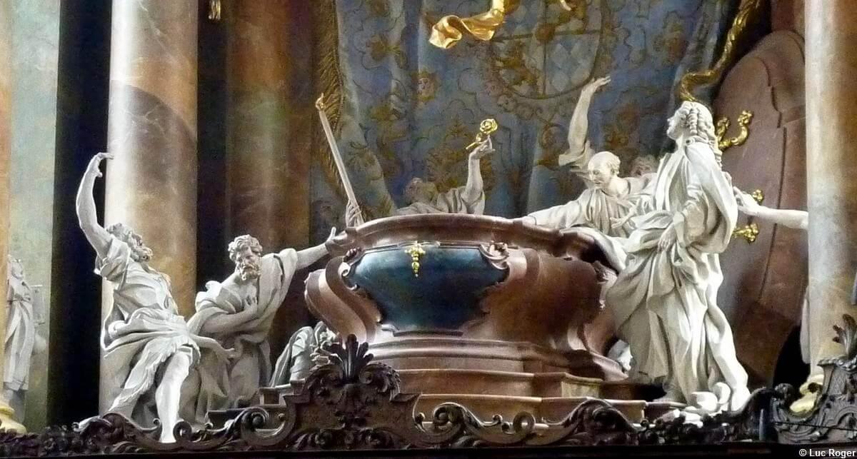 Apotres s'émerveillant devant l'Assomption de la Vierge dans l'Abbaye Rohr