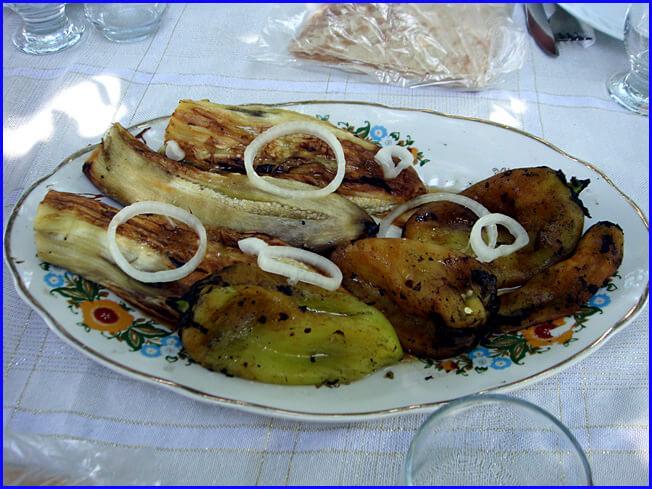 Armenie aubergines poivrons grillés