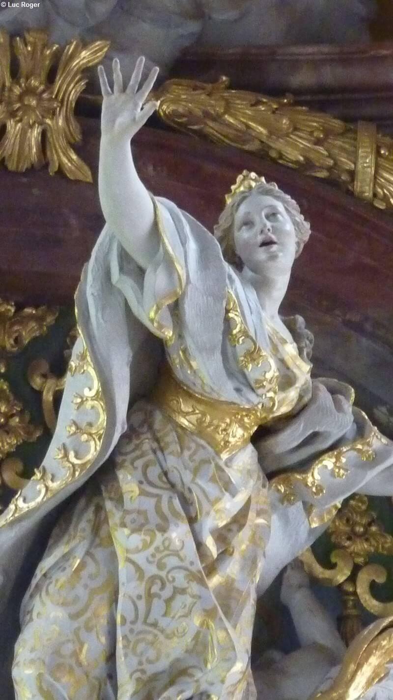 Assomption de la vierge en détail dans l'Abbaye de Rohr